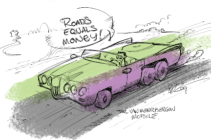 roads equals money