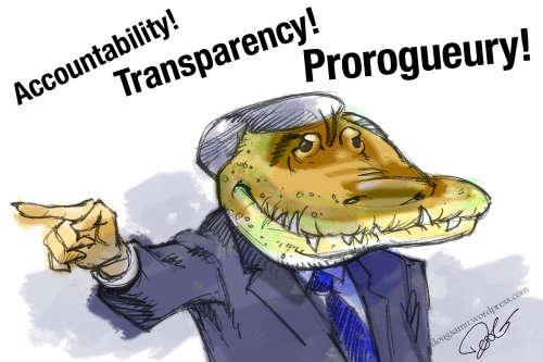 Stephen Harper Crocodile Prorogues