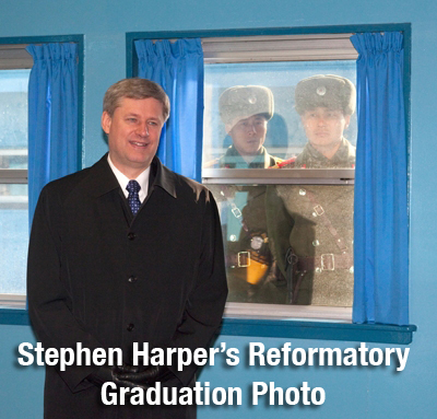 Stephen Harper's Reformatory Graduation Photo