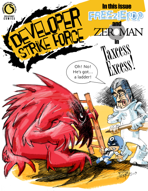Freeziepop and Zeroman battle Taxcess