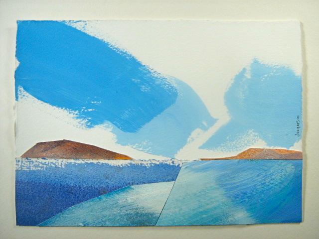 arctic landscape collage