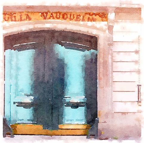 The door to the Villa Vauquelin