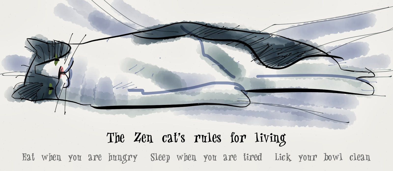 Zen cat's rules for living